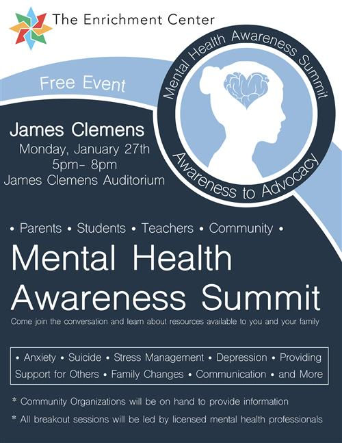 Free Mental Health Summit JCHS  Jan. 27